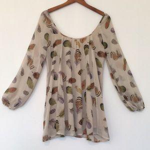 Show Me Your Mumu Feather Print Tunic Dress